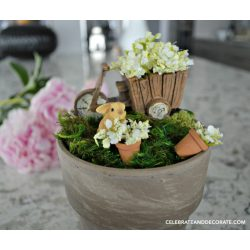 Soothing A Desk Or Windowsill How To Make A Windowsill Fairy Garden Celebrate Decorate Miniature Fairy Garden Flowers Fairy Garden Fake Flowers A Tiny Fairy Garden