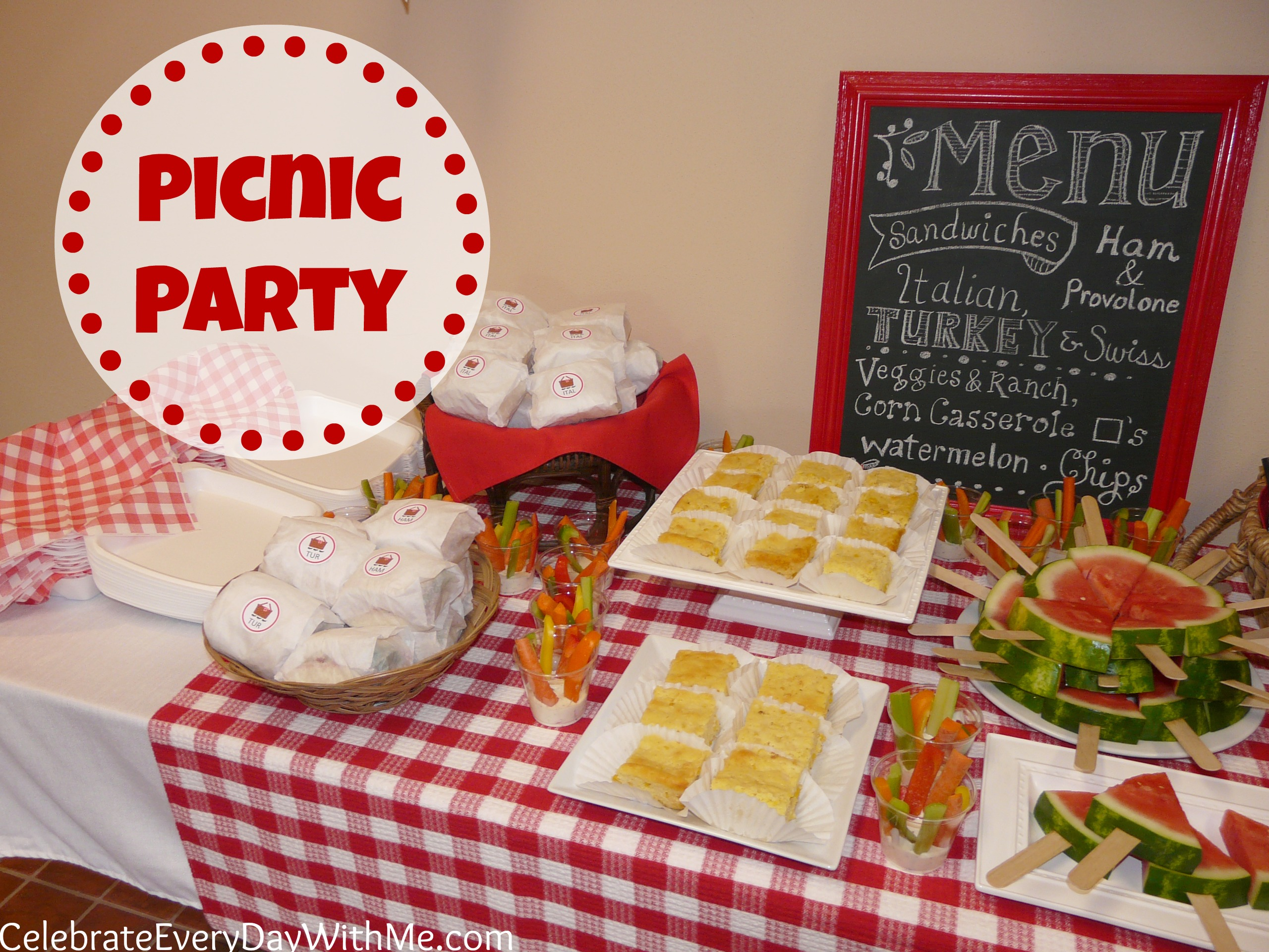 Picnic Themed Decorations A Picnic Party Celebrate Every Day With Me