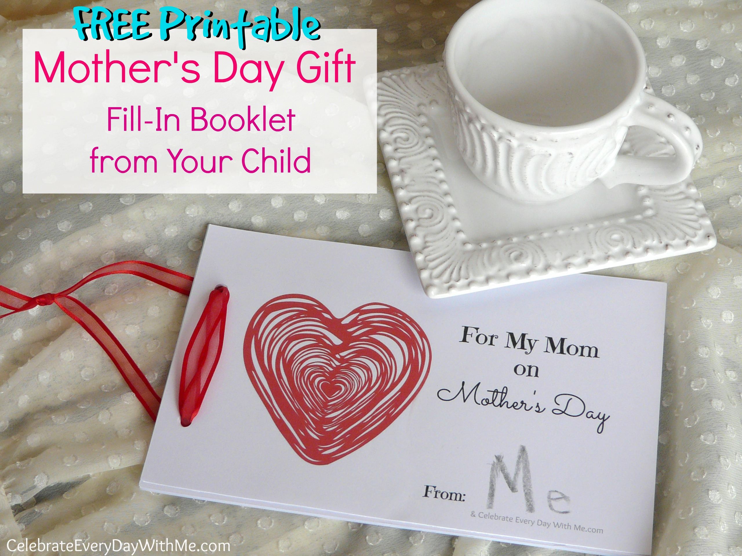 Diy Mothers Day Gifts From Baby Mother 39s Day Gift A Free Fill In Booklet From Your Child