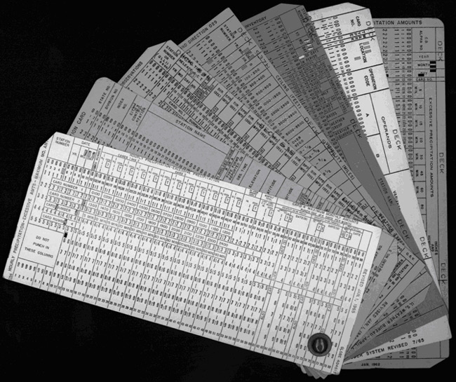 NOAA 200th Foundation Climate Data Management punch cards - punch cards