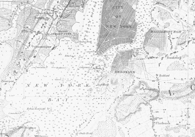NOAA 200th Foundation Nautical Charts Early Chart of New York Harbor