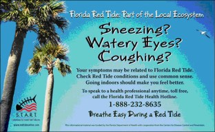 Florida Red Tide warning sign