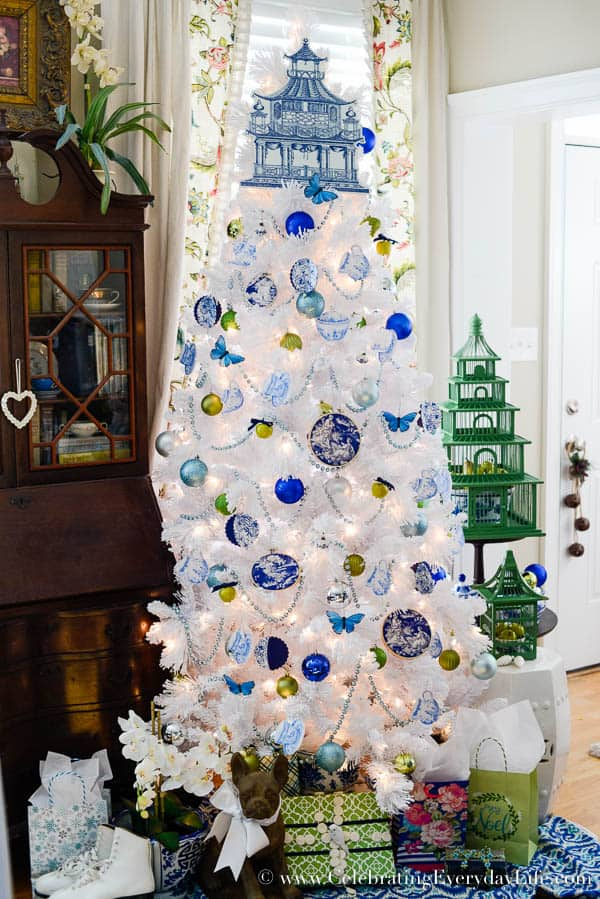 Blue white christmas tree celebrating everyday life with jennifer carroll - White and blue christmas tree ...