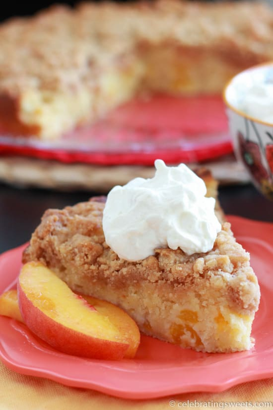 Peach Crumb Cake - Celebrating Sweets