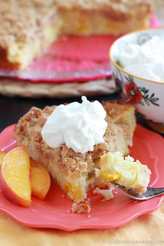 Peach Crumb Cake ~ Celebrating Sweets
