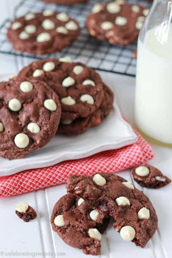 Triple Chocolate Cookies - Celebrating Sweets