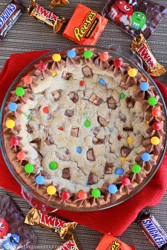 Candy Bar Cookie Pie