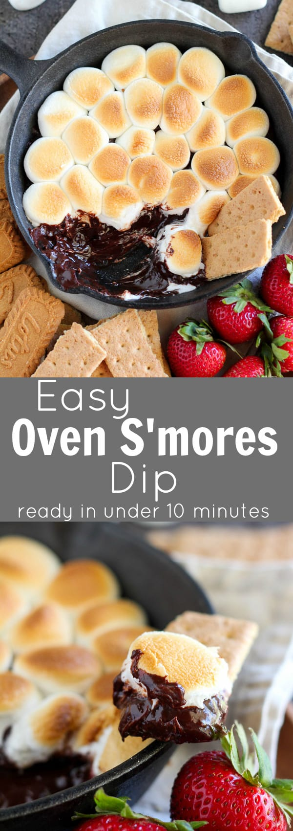 Easy Oven S'mores Dip - Ready in under 10 minutes!