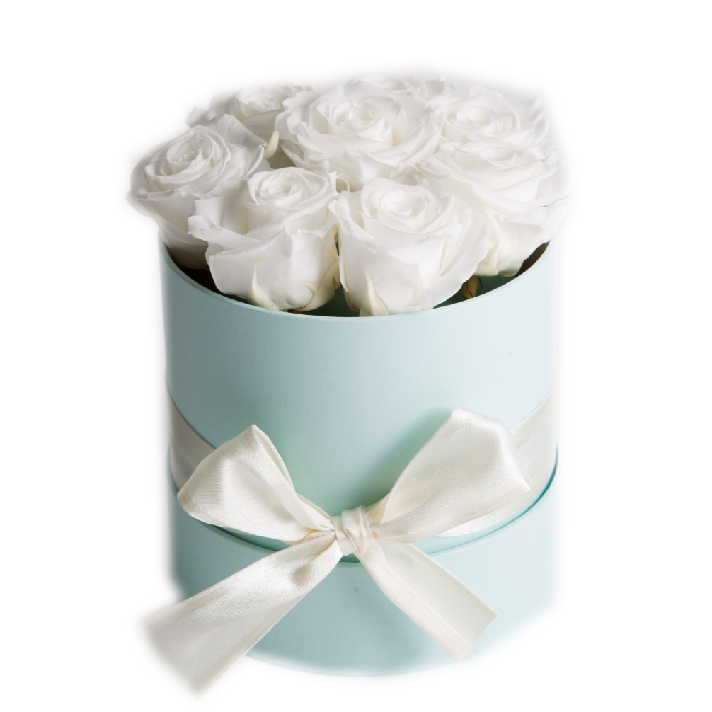Tischdeko Mint Celebration Flowerbox Flower Box Rose Rosenbox Runde
