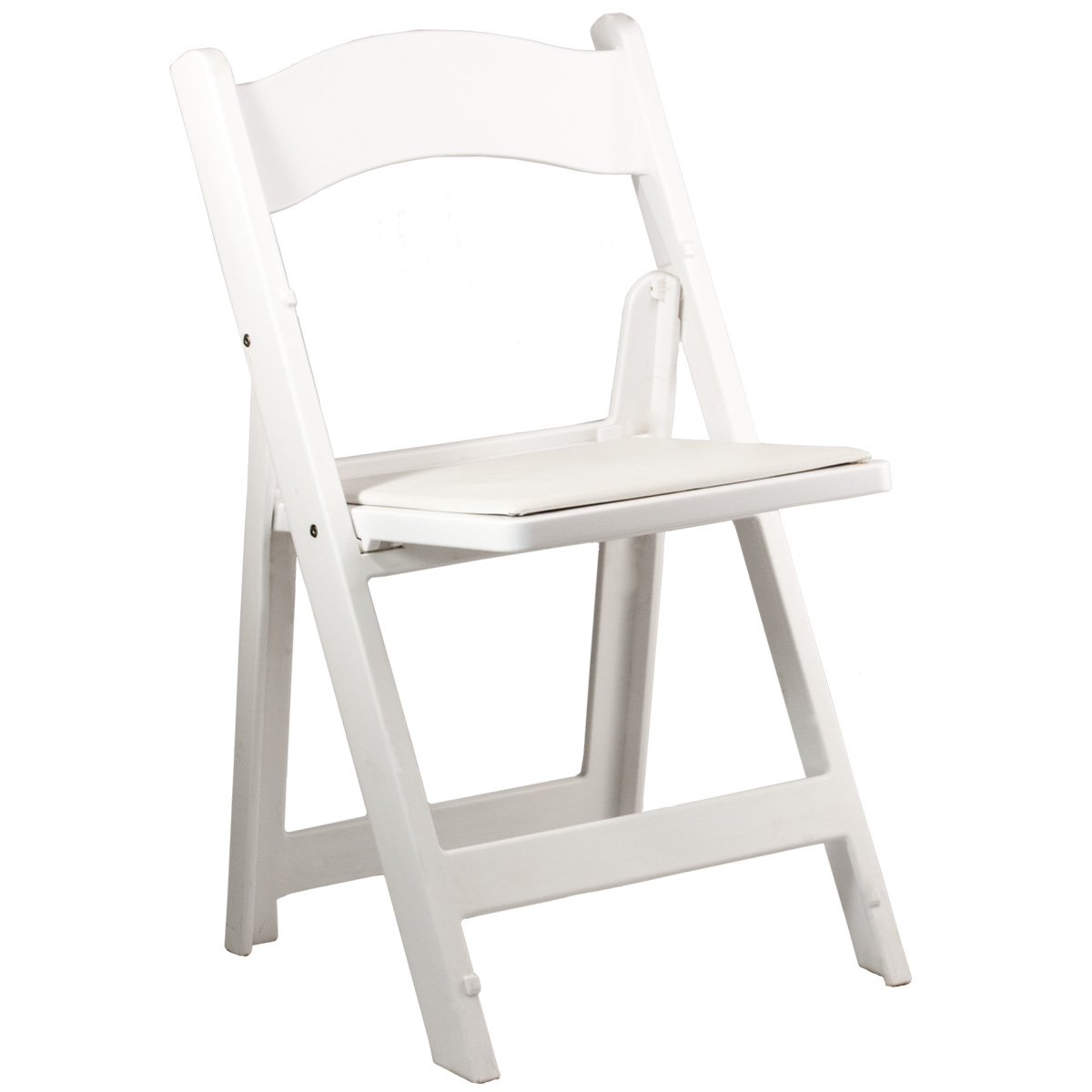 Chairs Folding Folding Chair Padded White