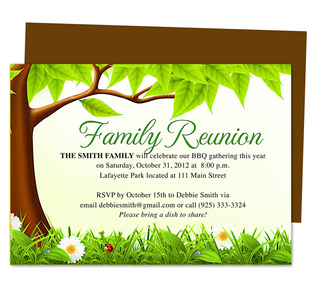 25+ Family Reunion Invitation Templates - Free PSD Invitations - invitation card format for conference