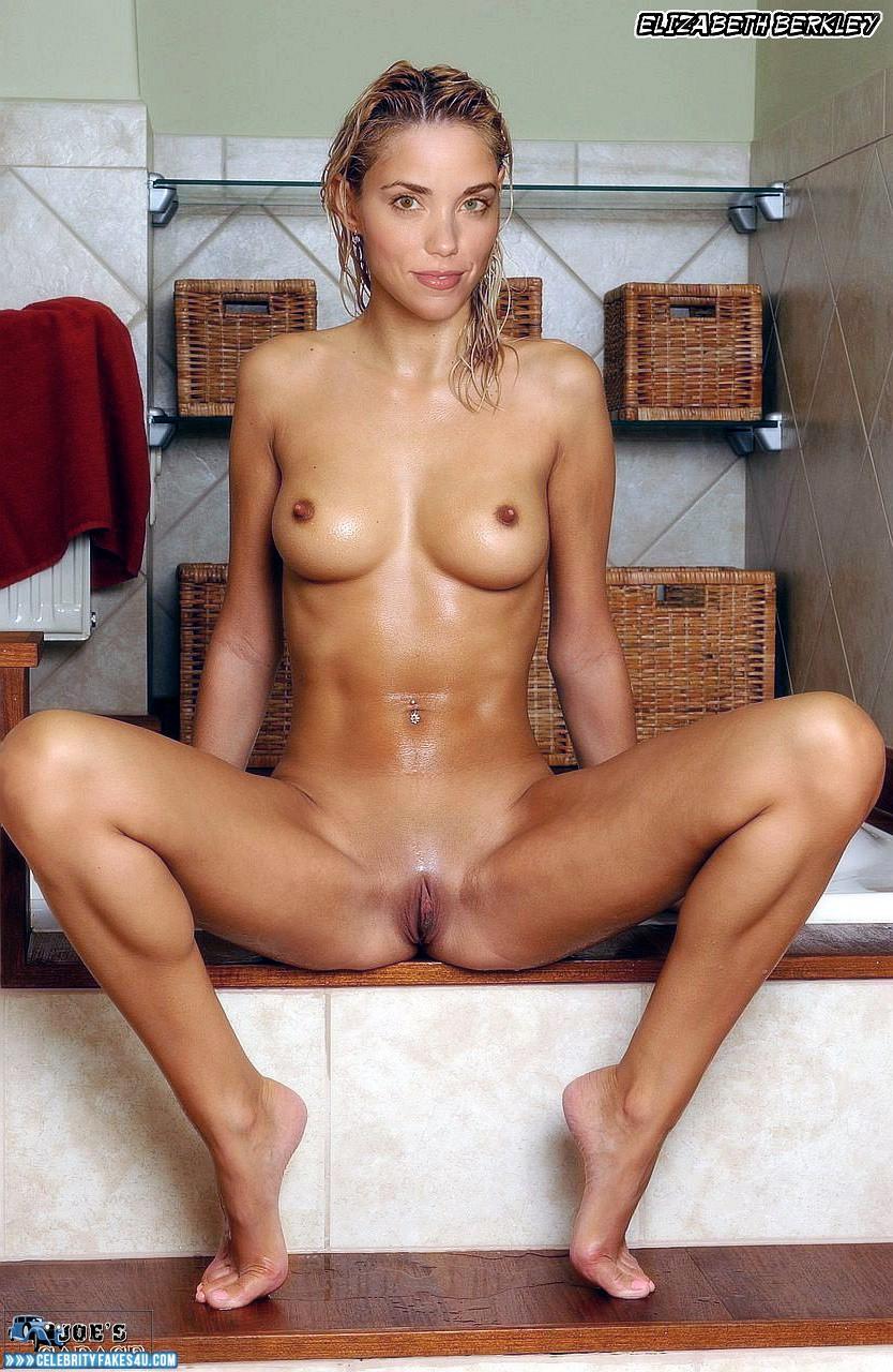 Elizabeth Berkley Vagina Legs Spread Wet Fake 001 ...