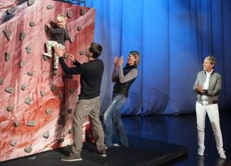 Ellen Meets a Baby Rock Climber