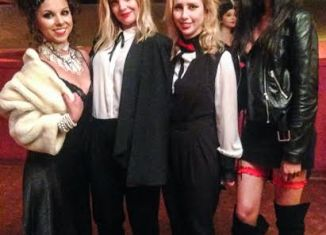 Daphne Tenne with Mena Suvari and Kayla Strada from the left (also in 'Love Is') and actress Oksana Maria Lorczak on the right