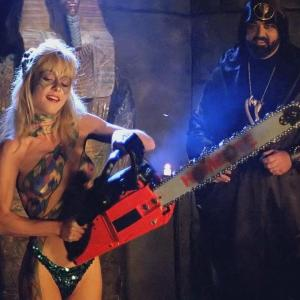 Linnea Quigley in Hollywood Chainsaw Hookers