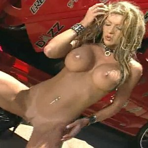 Tylene Buck in Red Car