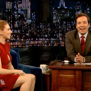 Zosia Mamet in Late Night with Jimmy Fallon