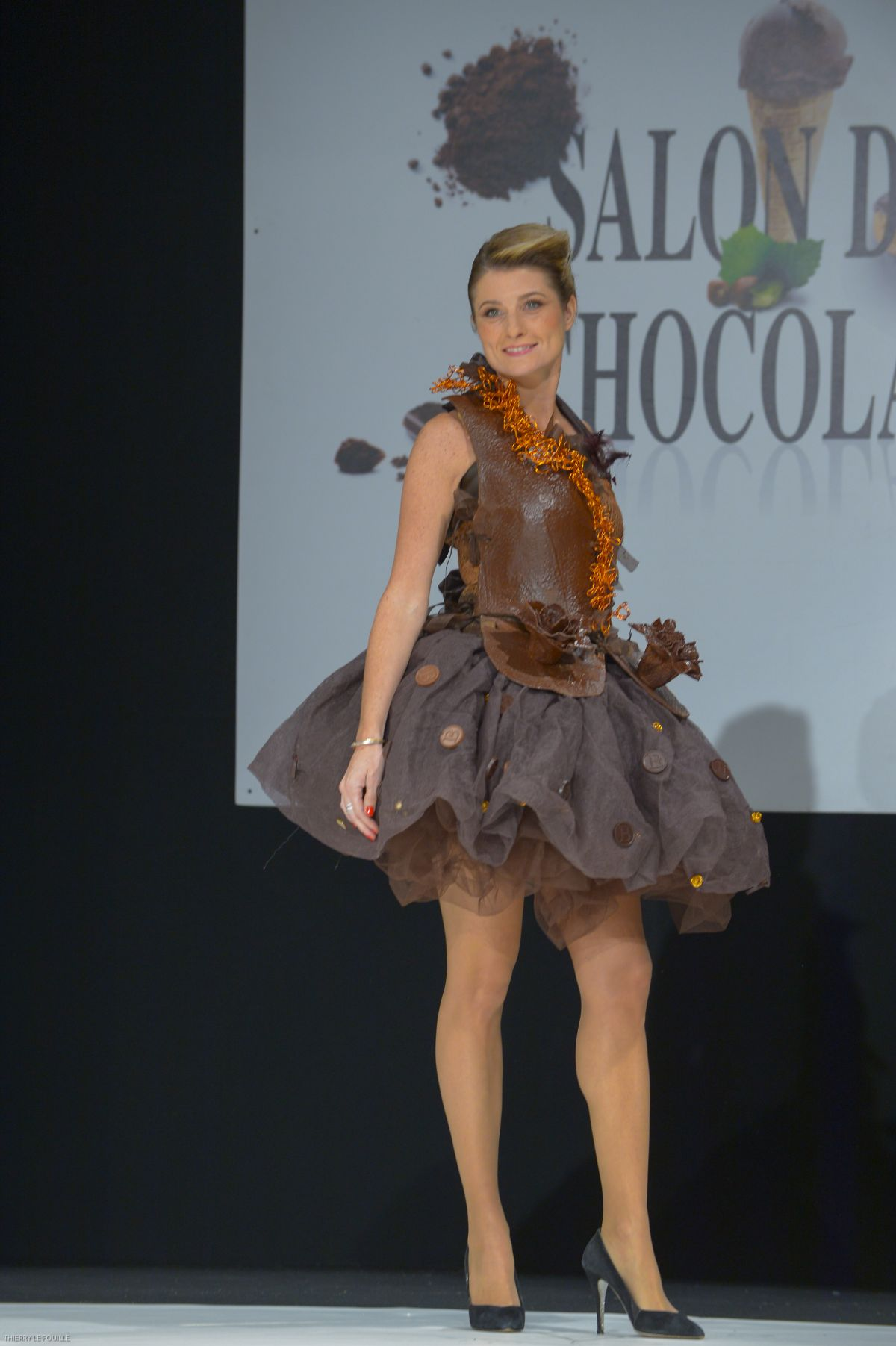 Saloni Paris Sandrine Arcizet At Salon Du Chocolat 2017 At Paris Porte De