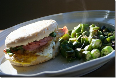 011 thumb1 Recipe: Gluten free Breakfast Sandwich