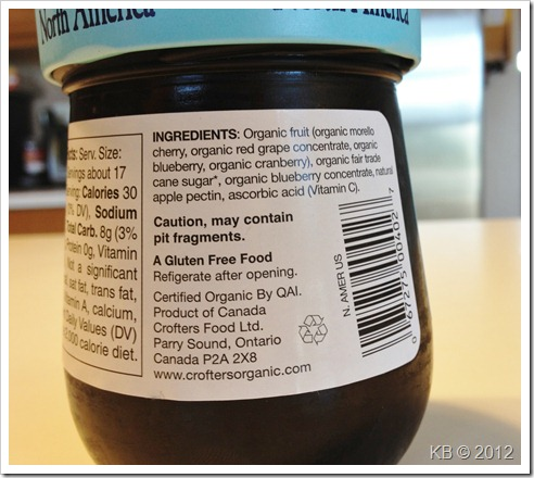 IMG 2463 thumb Review: Crofter's Organic Superfruit Spread