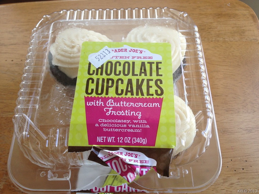 ... Joe's Gluten-Free Chocolate Cupcakes with Buttercream Frosting