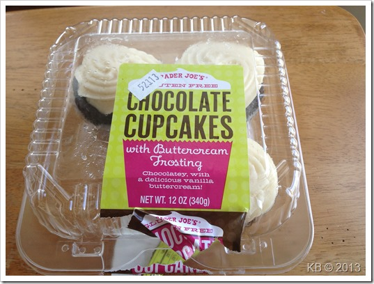 IMG 6444 thumb Review: Trader Joe's Gluten Free Chocolate Cupcakes with Buttercream Frosting