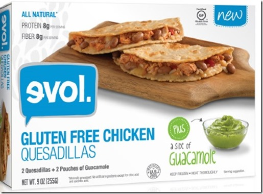 evolquesa thumb Evol Foods Introduces Gluten Free Chicken Quesadillas