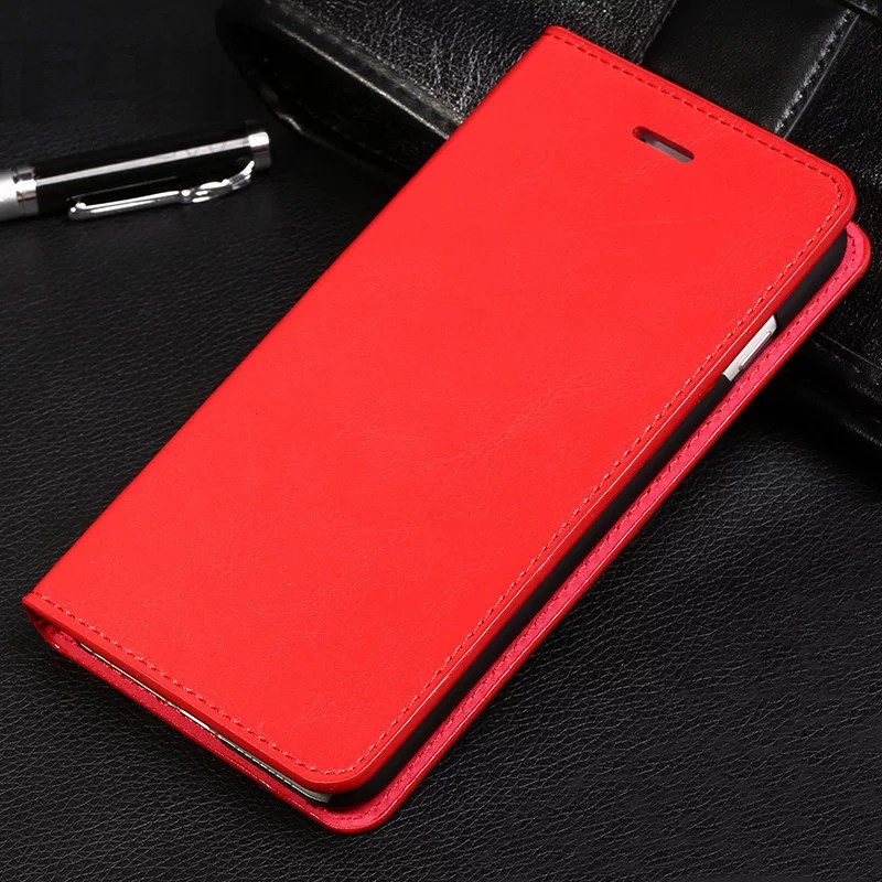 S8 Plus Book Case Cool Protective Leather Iphone 6 7 8 Plus Case With Card