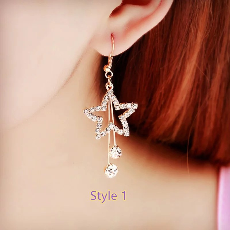S8 Plus Book Case Fashion Crystal Long Earrings Tassel Earrings Female