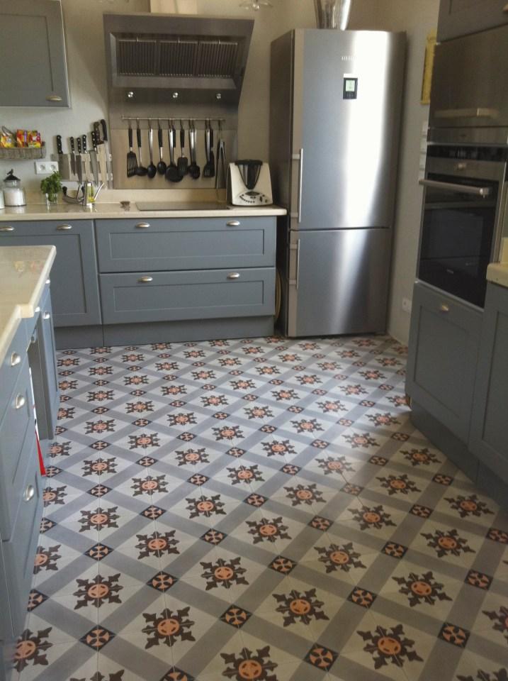 Keuken met 7090 1 cementtegels - Keuken met cement tegels ...