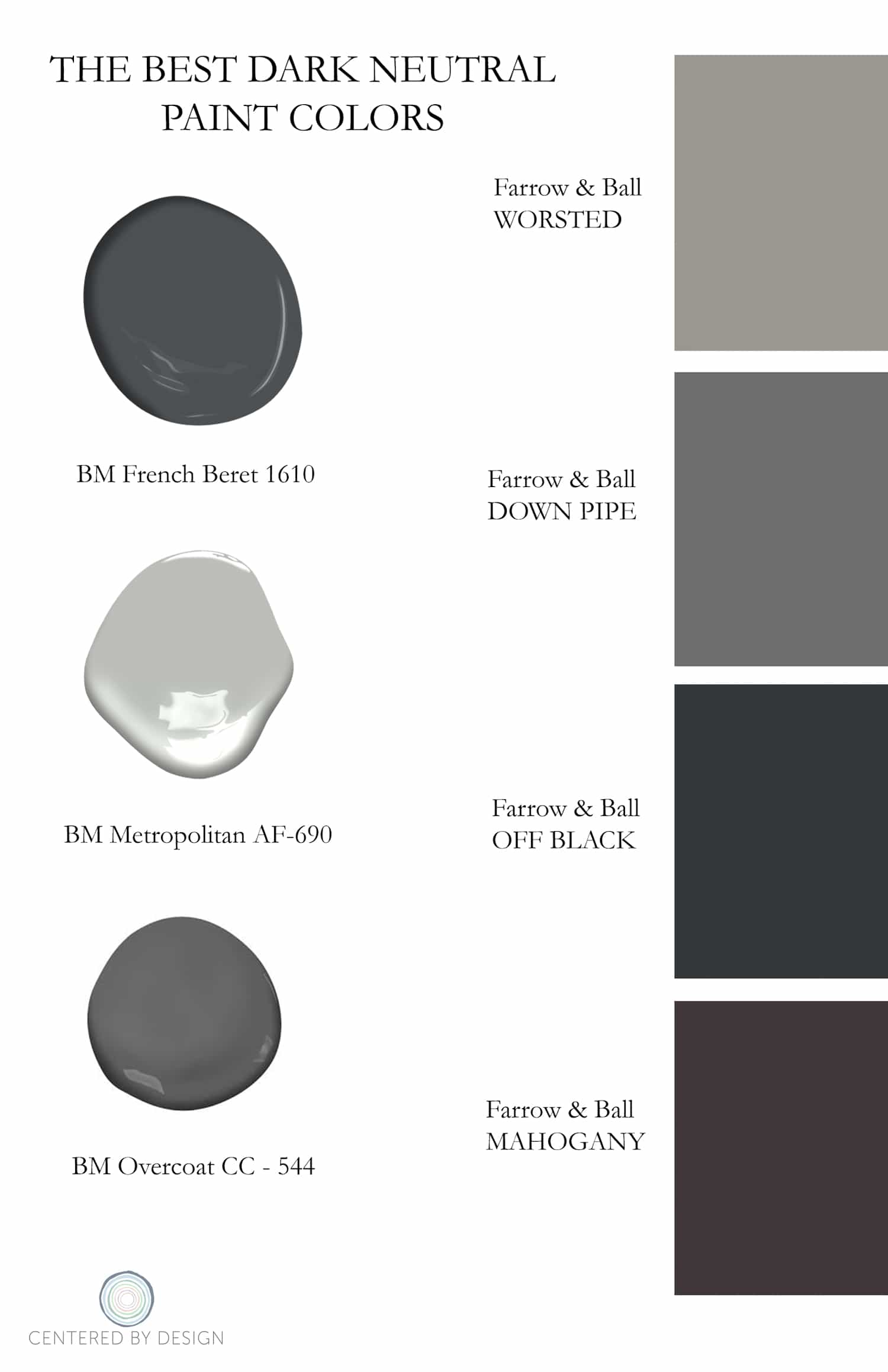 Accent Room Colors The Best Dark Paint Colors To Use For Your Home Interior