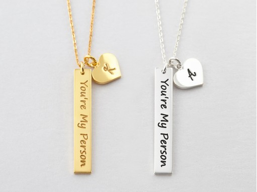 Personalized Couple Necklaces Centime Gift