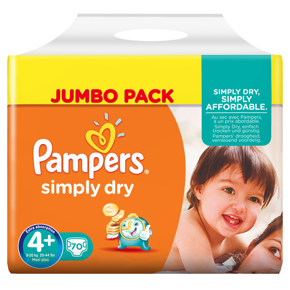 Couche Pampers Prix Couches Simply Dry Taille 4 9 20 Kg 70 Couches Jumbo Pack