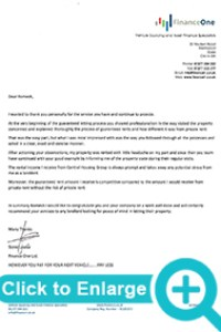 Finance One, landlords Testimonials