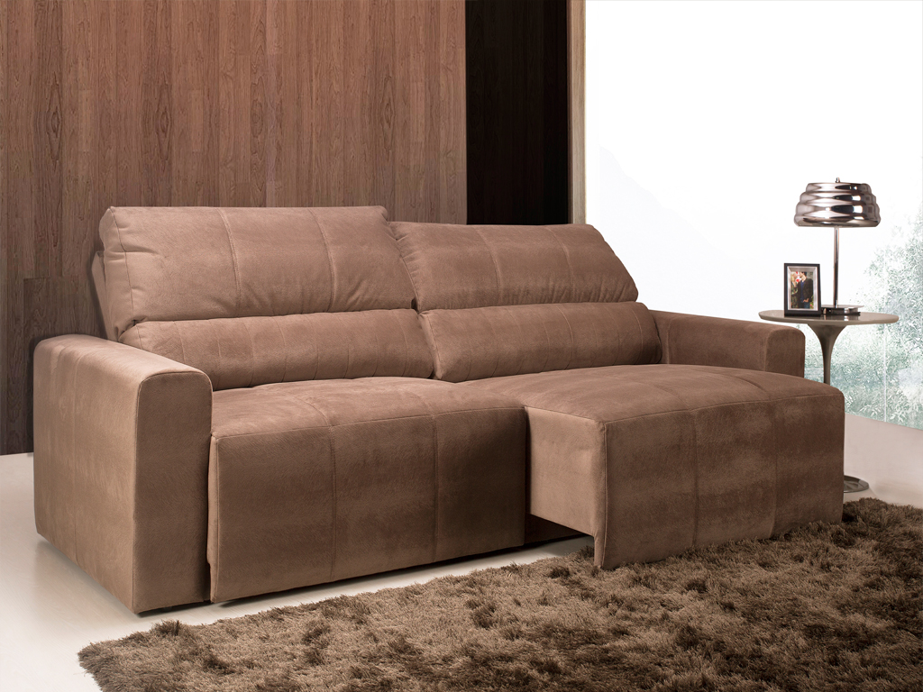 Sofa Reclinavel 2 Lugares Herval Estofados Retratil