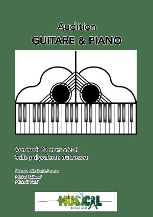 audition piano guitare bessat 25 mars