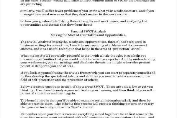 Swot analysis essay sample