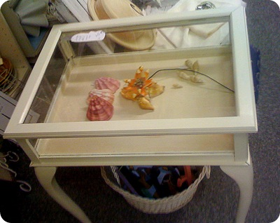 shadow box end table