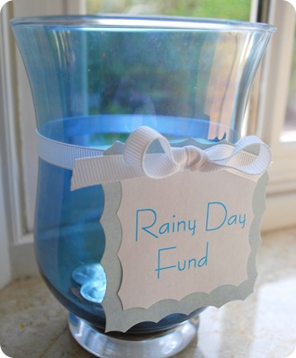 rainy day fund jar