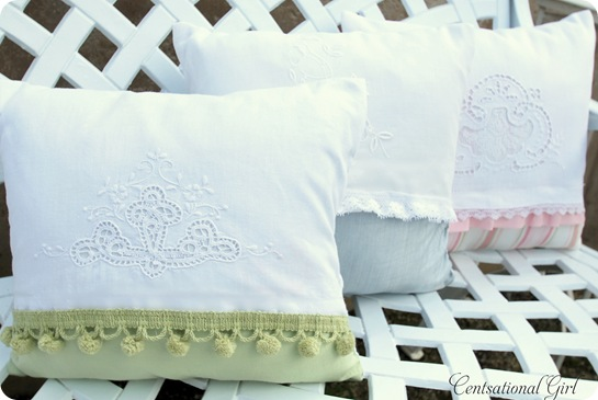 cg tea towel pillows
