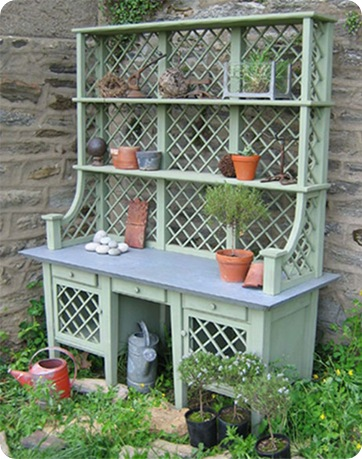 zinc top potting bench 4groundwork