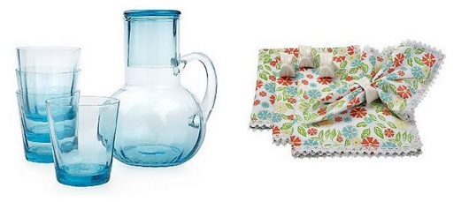 carafe and napkins