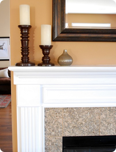 fireplace mantle corner
