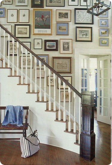 house beautiful gallery wall