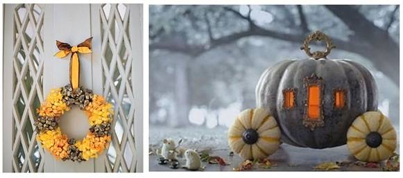 martha wreath cinderella pumpkin