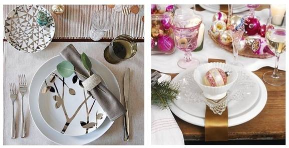 white holiday place settings