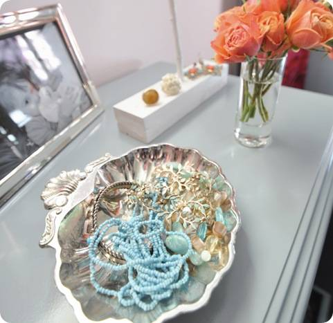 jewelry in shell dish