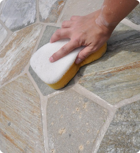 wipe away grout residue