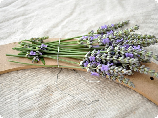 lavender wreath step 1