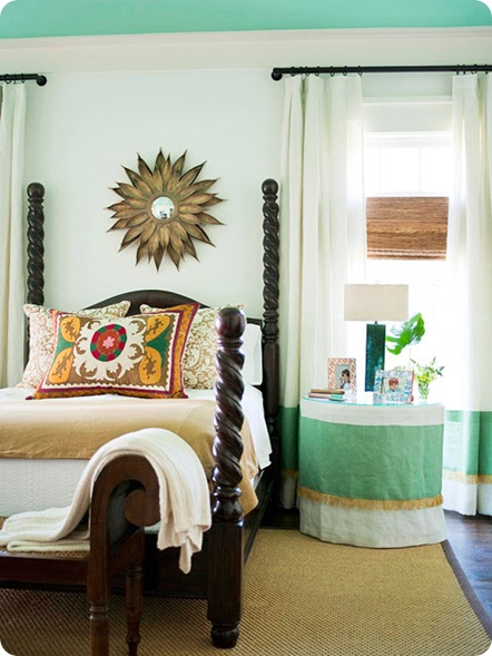 bhg sunburst above bed